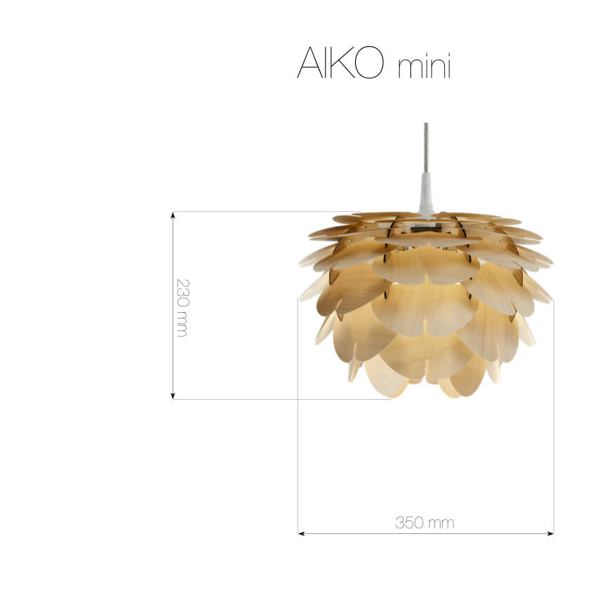 Aiko Mini | small wooden pendant light