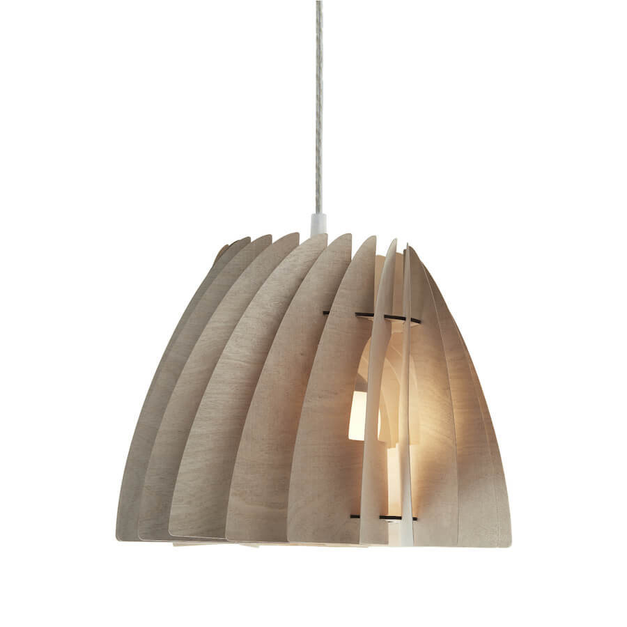 Etna | small modern pendant light made of plywood