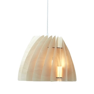 Etna | small modern ceiling light made of plywood
