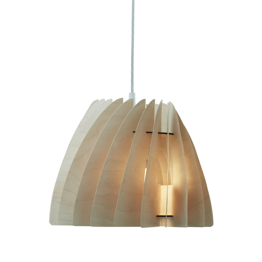 Etna Small Modern Ceiling Light Made Of Plywood