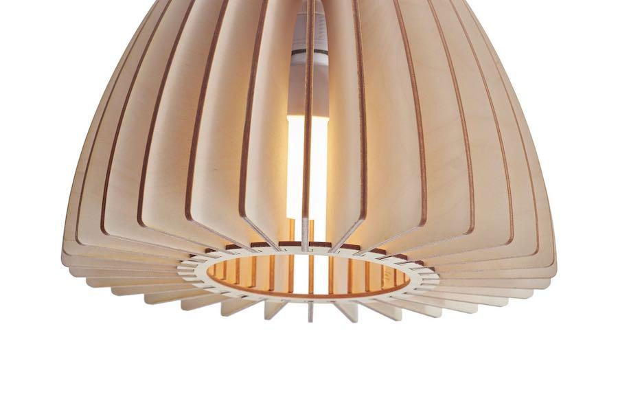 Nika pendelleuchte aus holz - wooden pendant light