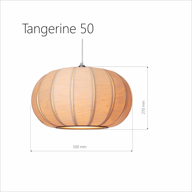 Tangerine 50 large wooden pendant lamp