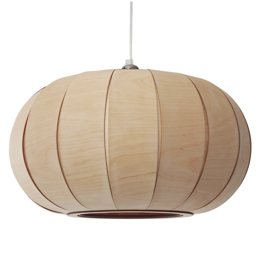 Tangerine 50 large wooden pendant lamp