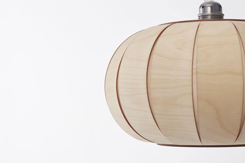 Tangerine 35 wooden pendant lamp