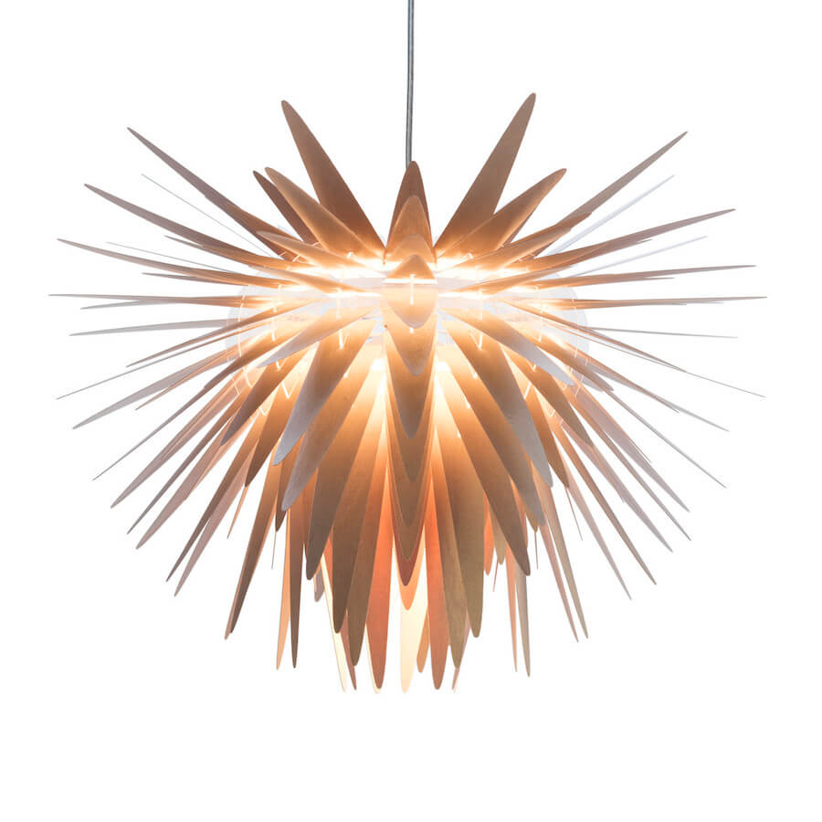 Teazzle | contemporary wooden pendant light