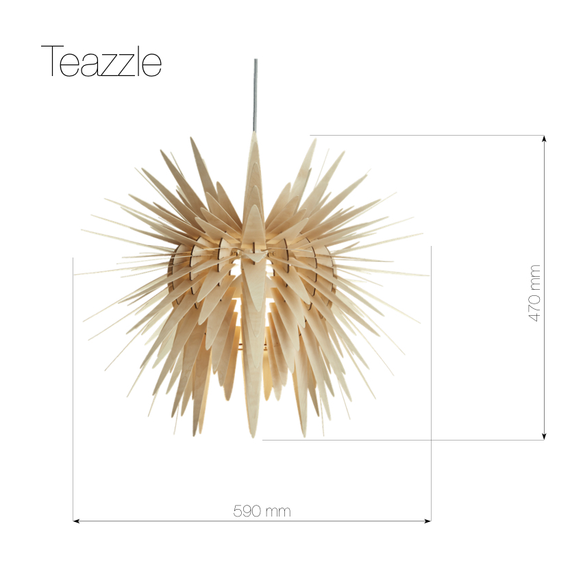 Teazzle | modern wooden pendant light