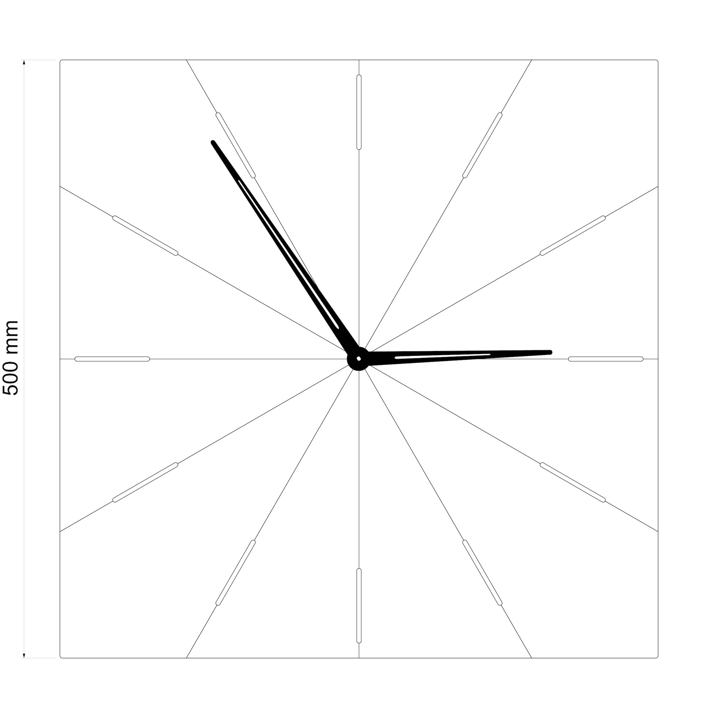 Wall clock N˚10SQ EO
