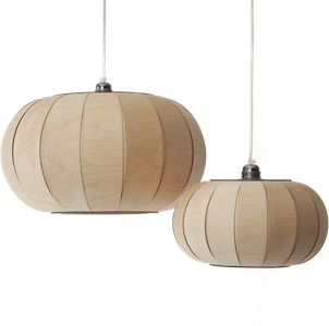 wooden pendant light